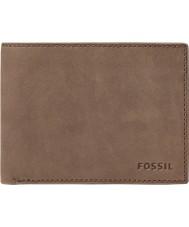 Fossil ML3446200 Mens Nova Brown Leather L-Zip Bifold Wallet