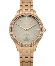 Karen Millen KM112ERGMA Ladies Rose Gold Plated Bracelet Watch