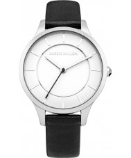Karen Millen KM133BA Ladies Black Leather Strap Watch