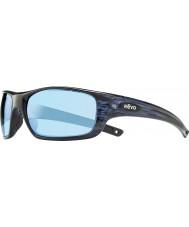 Revo RE4073 Guide II Navy Woodgrain - Blue Water Polarized Sunglasses