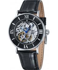 Thomas Earnshaw ES-8038-01 Mens Darwin Black Croco Leather Strap Watch