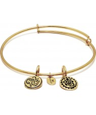 Chrysalis CRBT0001GPSML Lucky Ganesh 14ct Gold Plated Expandable Bangle