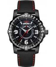 Dogfight DF0015 Mens Ace Black Leather Strap Watch