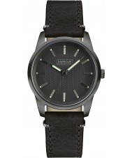 Barbour BB026GNBK Mens Jarrow Black Leather Strap Watch