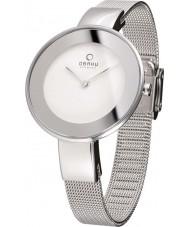 Obaku V167LXCIMC Ladies Silver Steel Mesh Bracelet Watch