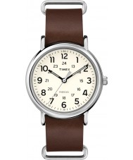 Timex Originals T2P495 Weekender Brown Leather Strap Watch