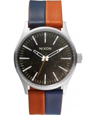 Nixon A377-1957 Mens Sentry 38 Dark Copper Navy Saddle Watch