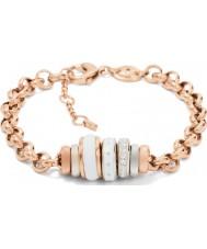 Fossil JF01121998 Ladies Classics Rose Gold Steel Chain Bracelet