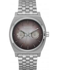Nixon A922-2564 Mens Time Teller Deluxe Silver Steel Bracelet Watch