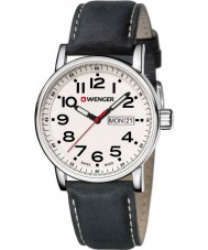 Wenger 01-0341-101 Mens Attitude Black Leather Strap Watch