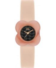 Orla Kiely OK2060 Ladies Poppy Pink Flower Case Nude Leather Strap Watch