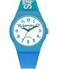 Superdry SYG164AUW Urban Blue Silicone Strap Watch