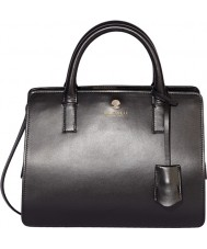 Modalu MH5122-BLACK Ladies Jasmine Black Leather Small Grab Bag