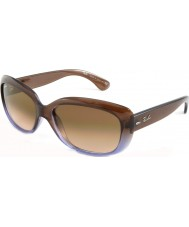 RayBan RB4101 58 Jackie OHH Brown Gradient Lilac 860-51 Sunglasses