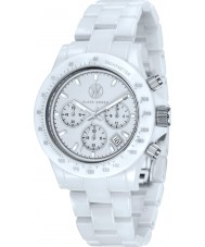 Klaus Kobec KK-10015-03 Racer White Ceramic Chronograph Watch