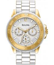 Bulova 98N102 Ladies White Sport Multifunction Watch