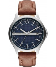 Armani Exchange AX2133 Mens Brown Leather Strap Dress Watch
