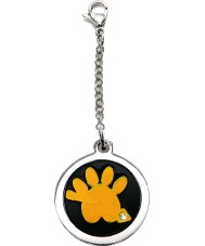I Puppies PF-003-A Dog and Cat Steel Orange Tag For Collar Medallion
