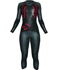2XU WW2515BLKRDST Ladies Z1 Black and Red Wetsuit - H 164-175 cm