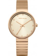 Karen Millen KM131RGM Ladies Rose Gold Plated Bracelet Watch
