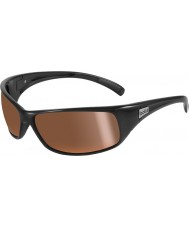 Bolle Recoil Shiny Black Polarized Inland Gold Sunglasses