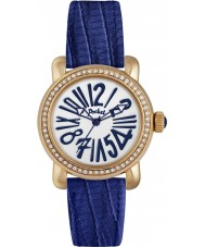 Pocket PK1012 Ladies Rond Crystal Petite Blue Watch