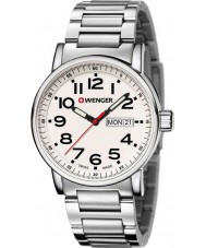 Wenger 01-0341-102 Mens Attitude Silver Steel Bracelet Watch
