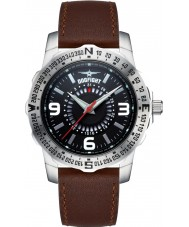 Dogfight DF0016 Mens Ace Brown Leather Strap Watch