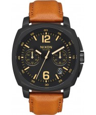 Nixon A1073-2447 Mens Charger Light Brown Leather Chrono Watch