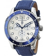 Elliot Brown 929-008-C01 Mens Bloxworth Blue Fabric Strap Chronograph Watch