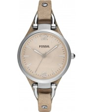 Fossil ES2830 Ladies Georgia Sand Leather Strap Watch
