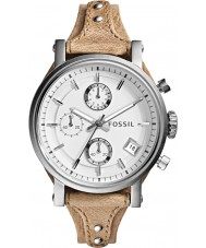 Fossil ES3625 Ladies Original Boyfriend Bone Leather Chronograph Watch