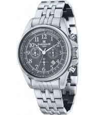 Thomas Earnshaw ES-8028-33 Mens Commodore Silver Steel Chronograph Watch
