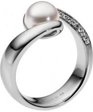 Skagen SKJ0091040 Ladies Agnethe Silver Pearl Ring - Size M.5