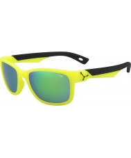Cebe Avatar (Age 7-10) Neon Yellow 1500 Grey Flash Mirror Green Sunglasses