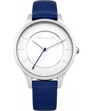 Karen Millen KM133UA Ladies Blue Leather Strap Watch