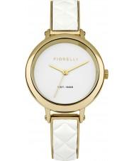 Fiorelli FO021WG Ladies White Leather Bangle Watch