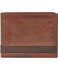 Fossil ML3652200 Mens Quinn Brown Leather Bifold Wallet