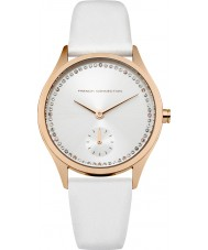 French Connection FC1272WRG Ladies White Leather Strap Watch