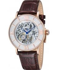 Thomas Earnshaw ES-8038-03 Mens Darwin Brown Croco Leather Strap Watch