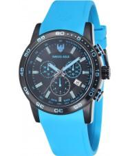 Swiss Eagle SE-9057-10 Mens Field Terrain Blue Chronograph Watch