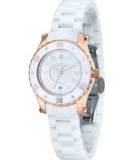 Klaus Kobec KK-10016-01 Ladies Aurora Rose Gold and White Ceramic Watch