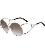 Chloe Ladies CE124S Silver and Brown Sunglasses