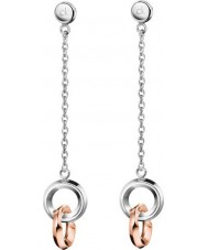 Calvin Klein KJ4NPE200100 Ladies Beauty Two Tone Rose Gold Plated Earrings