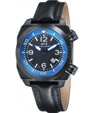AVI-8 AV-4005-04 Mens Hawker Harrier II Black Leather Strap Watch