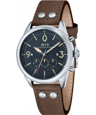 AVI-8 AV-4024-01 Mens Lancaster Bomber Brown Leather Strap Chronograph Watch