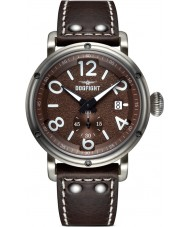 Dogfight DF0019 Mens Ace Brown Leather Strap Watch