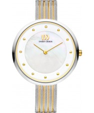 Danish Design V65Q1131 Ladies Two Tone Mesh Bracelet Watch