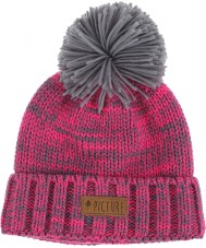 Picture B122P3 Ladies Ale Neon Pink Heather Grey Beanie