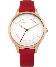 Karen Millen KM133RRGA Ladies Red Leather Strap Watch